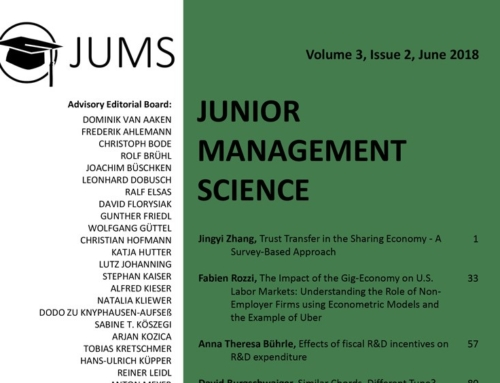 Junior Management Science: Volume 3 Issue 2