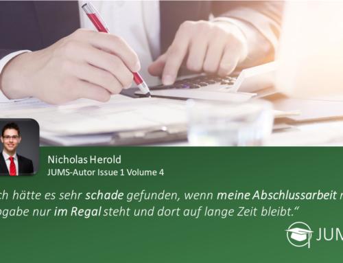 JUMS trifft … Nicholas Herold