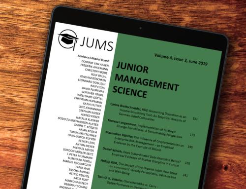 Deine erste Publikation mit Junior Management Science!